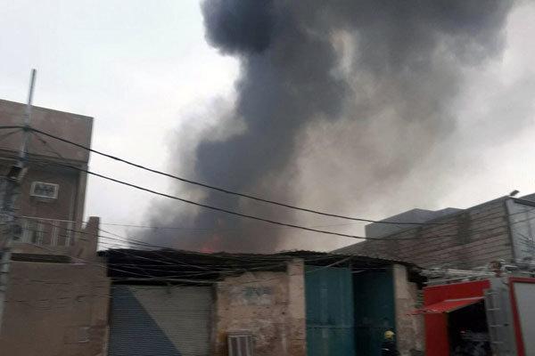آتش سوزی در نجف اشرف