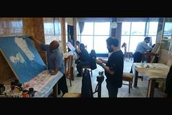 خلق آثار اربعینی توسط هنرمندان ایرانی در جوار مسجد کوفه
