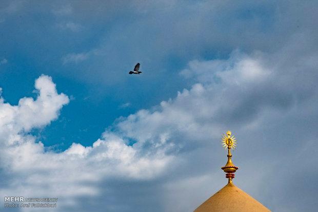 گنبد مقام امام زین العابدین(ع)در آستانه افتتاح/جایگاه نخستین زائر,