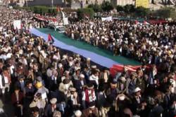 """مسيرة جماهيرية في صنعاء """"حمدا لله على تجاوز المحنة ودعما للدولة"""""""