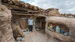 A modern troglodyte in Maymand, a UNESCO-registered village in Kerman province