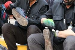 برپایی ایستگاههای صلواتی واکس زدن در همدان
