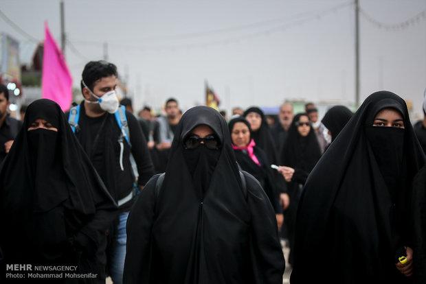 پیادهروی زائران حسینی از نجف تا کربلا - 5