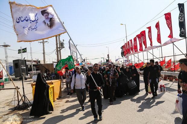 تردد زائرین اربعین حسینی از مرز چذابه