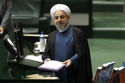 Rouhani in Parl. to submit budget bill