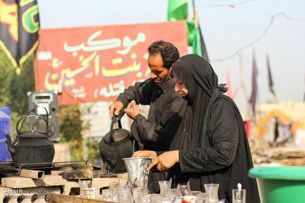پیادهروی زائران حسینی از نجف تا کربلا