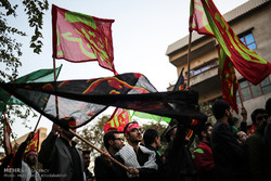 تجدید بیعت دسته های عزاداری دانشجویی با رهبر انقلاب