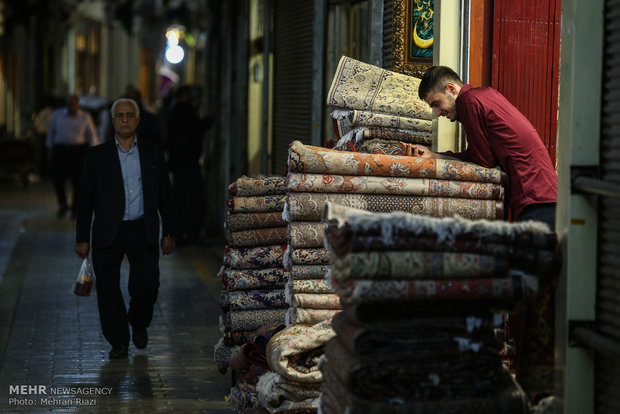 Tehran carpet market in grand bazaar