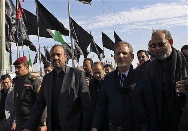 جهانغيري: مسيرة اربعينية الامام الحسين تحولت الى رمز من رموز العالم الاسلامي