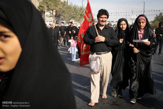 پیاده روی اربعین حسینی در تهران