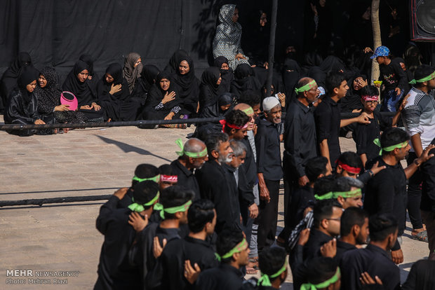 مراسم عزاداری روز اربعین در جزیره هرمز