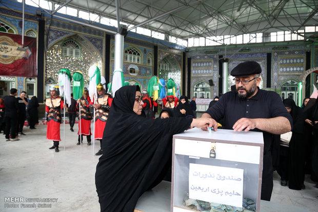 إحياء ذكرى اربعين الامام الحسين من خلال محاكاة قافلة أسرى كربلاء