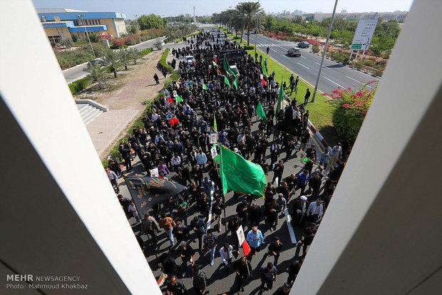 راهپیمایی اربعین حسینی در جزیره کیش
