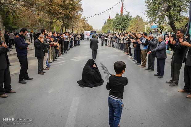 مراسم اربعین حسینی در امامزاده عبدالله همدان
