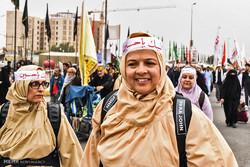 کربلائے معلی میں حضرت امام حسین (ع) کے چہلم میں حسینی خواتین کا حضور
