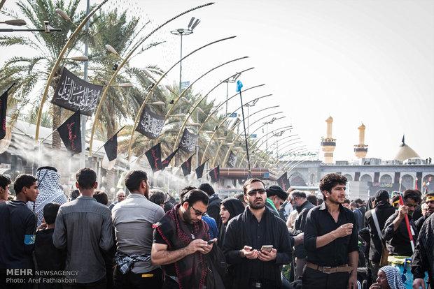 حال و هوای بین الحرمین در روز اربعین عراق