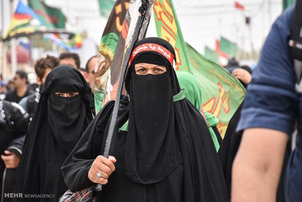 المرأة في مسيرة الاربعينية