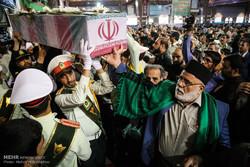 تشییع پیکر 4 شهید نیروی انتظامی دوران دفاع مقدس