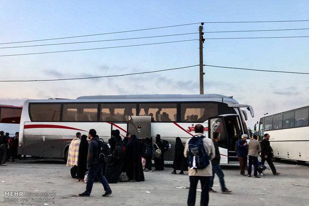 وضعیت ترافیکی در محورهای منتهی به مرز مهران