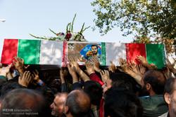 تشييع جثمان الشهداء المدافعين عن الحرم / صور