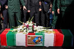 تشییع پیکر مطهر شهید مدافع حرم «وحید فرهنگی والا» در تبریز
