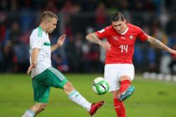 دیدار تیم های ملی فوتبال سوئیس و ایرلند شمالی