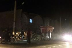 بخشی از کاروانسرای تاریخی قصر شیرین بر اثر زلزله تخریب شد