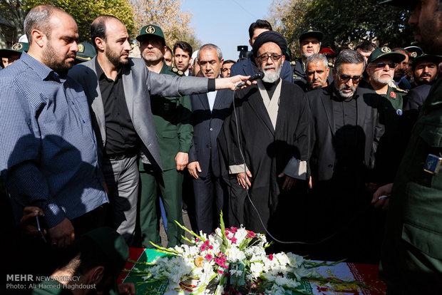 تشييع جثمان الشهداء المدافعين عن الحرم