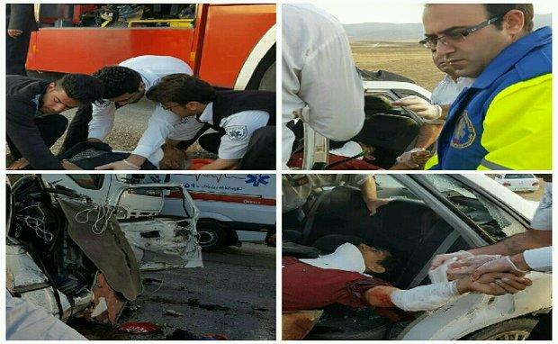 تصادفی که ۱۶ نفر را زخمی کرد/ یک نفر جان خود را از دست داد,
