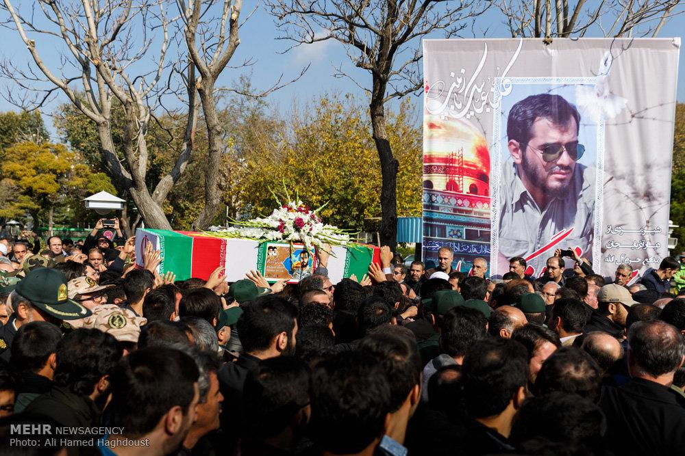 تشییع پیکر مطهر شهید م ع حرم «وحید فرهنگی والا» در تبریز