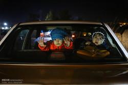 تواجد أهالي مدينة همدان في الشوارع اثر وقوع الزلزال/ صور