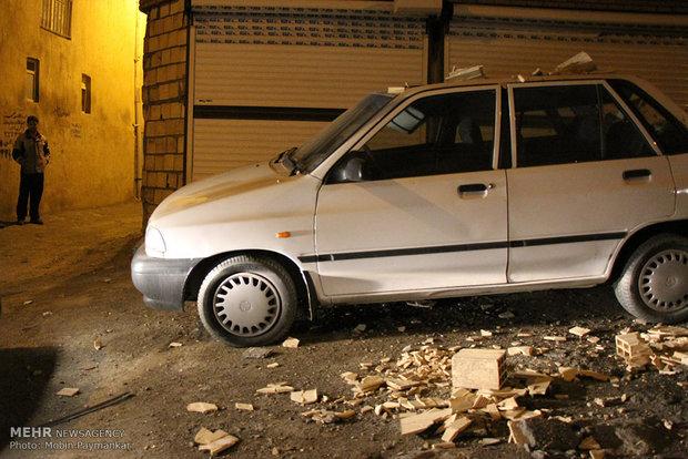 Earthquake devastation in Sanandaj