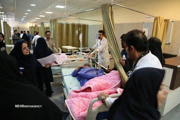 مصدومان زلزله کرمانشاه در همدان