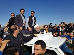 Ruhani, Serpol Zahap kentini ziyaret etti