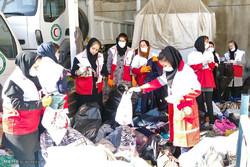 ارسال محموله ۸۰ تنی هلال احمر استان تهران به مناطق زلزله زده