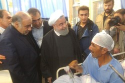 Pres. Rouhani pays visit to quake-hit people