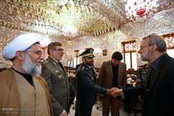 لقاء قادة الجيش الإيراني مع رئيس مجلس الشورى الاسلامي / صور
