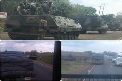 زیمبابوے میں فائرنگ/ حکومتی ٹی وی چینل  پر فوج کا حملہ