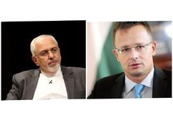 اتصال هاتفي بين ظريف ووزير خارجية هنغاريا حول الاتفاق النووي