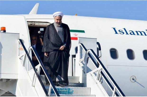 رئیسجمهور وارد کرمانشاه شد