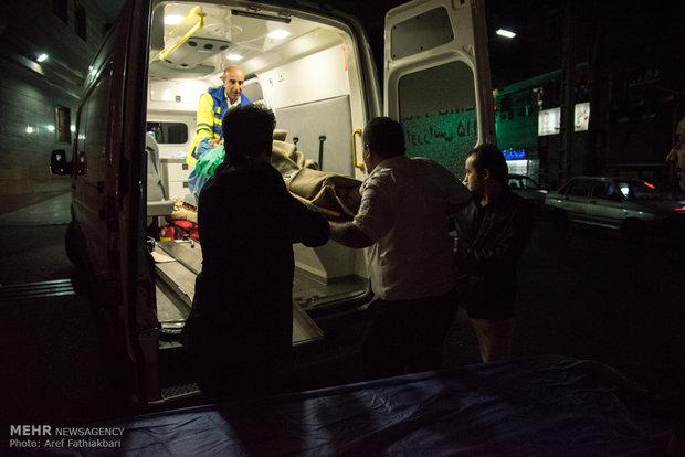 انتقال مصودمين  زلزله کرمانشاه به بيمارستان شهید مدنی كرج