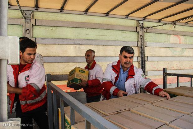 برپایی اردوگاه اسکان اضطراری در شهر دیر استان بوشهر