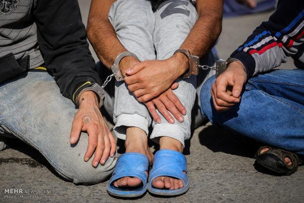 دستگیری سه زورگیر و قاپ زن سابقه دار