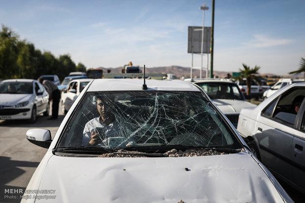 آخرین وضعیت ترافیکی مناطق زلزلهزده/ممنوعیت تردد ماشینهای باری
