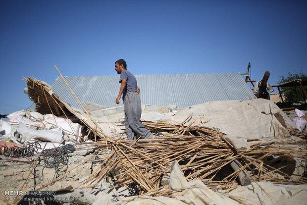روستاهای نزدیک سرپل ذهاب در گیلانغرب تخریب صد درصدی شده اند