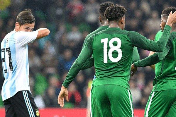 دیدار تیم های ملی فوتبال آرژانتین و نیجریه