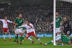 دیدار تیم های ملی فوتبال ایرلند و دانمارک