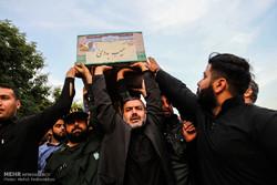 مراسم استقبال و تدفین پیکر شهید مدافع حرم حاج حبيب بدوی در اهواز