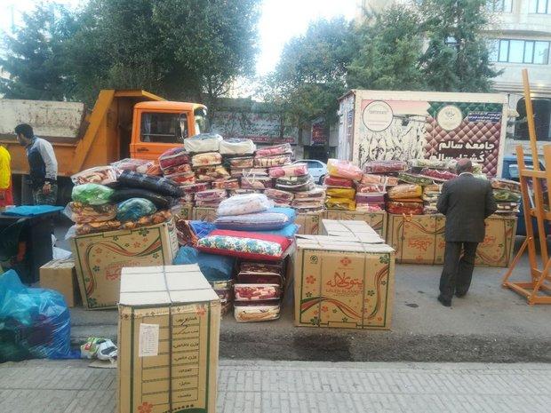 کمک های غیرنقدی مردم کرمانشاه به مناطق زلزله زده