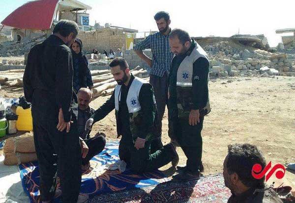 امداد رسانی سپاه در زلزله کرمانشاه
